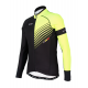 Cycling Jersey Long sleeves PRO Fluo yellow - FORZA KIDS