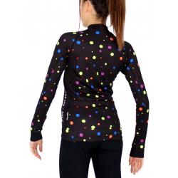 Cycling jersey long sleeves PRO - DOTS bright