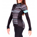Cycling Jersey Long Sleeves TURQUOISE - GANNON