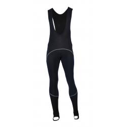 Cycling Bibtight Uni Black + zipper MTB with pad - Checkmate