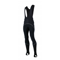 Cycling Bibtight Uni Black Windstopper with pad - Checkmate