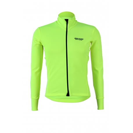 Cycling jersey long fluo water repellent