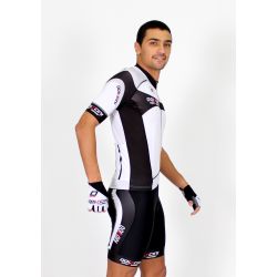 Cycling Jersey Short Sleeves white - MALAGA