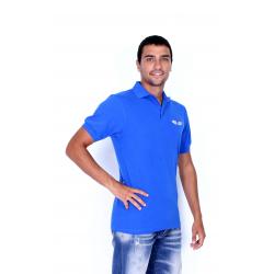Спортна Поло фланелка къс ръкав - blue