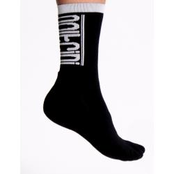 Чорапи високи зимни SCORPION black-white