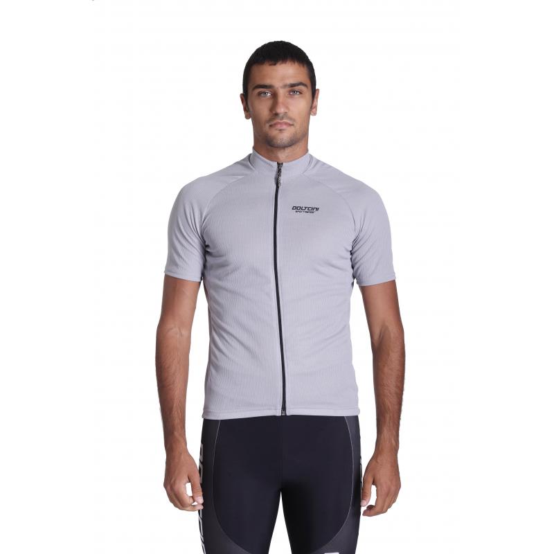 Cycling Jersey Short Sleeves Uni Grey