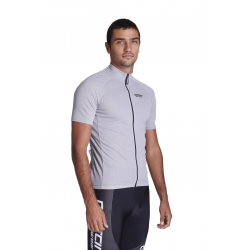 Cycling Jersey Short Sleeves Uni Grey