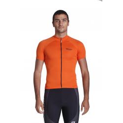 Cyclisme à manches courtes jersey Uni Orange