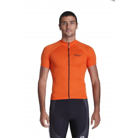 Cycling Jersey Short Sleeves Uni Orange