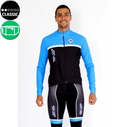 Cycling jersey long sleeves blue - TOLEDO