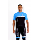 Cycling jersey short sleeves blue - TOLEDO